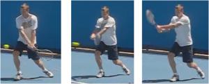 Acceleration tete de raquette revers deux mains Berdych