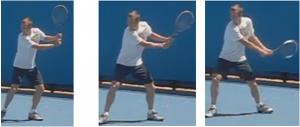 revers tennis deux mains boucle