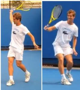 revers tennis une main relâchement