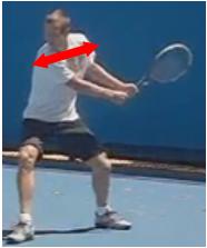revers tennis deux mains orientation épaules