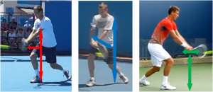 Point d'impact revers deux mains Berdych
