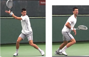 coup droit tennis transfert vers l'avant
