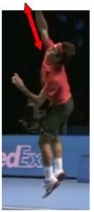 Service au tennis frappe