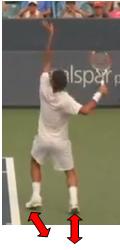 service au tennis appuis