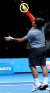 Prise smash Federer