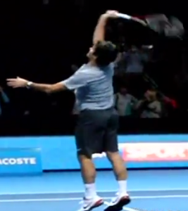 Projection smash Federer
