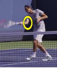 Volee CD Federer coude
