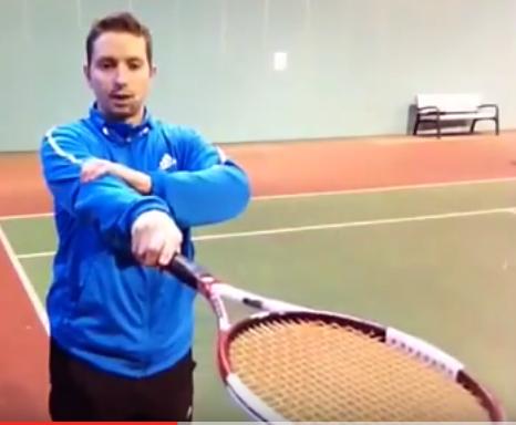 Prises au tennis service pronation