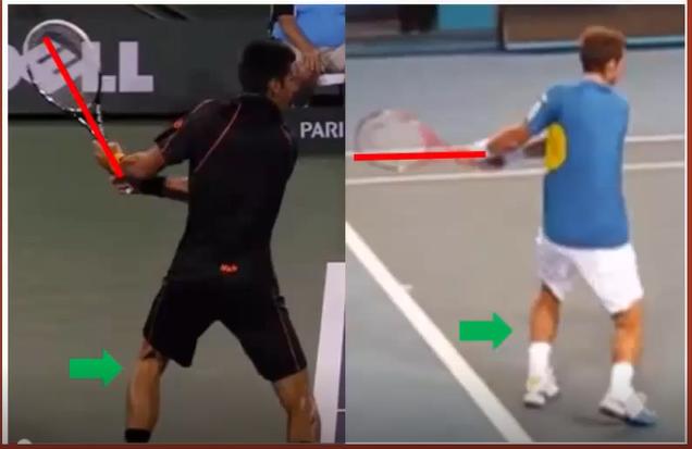 Débutant tennis retour
