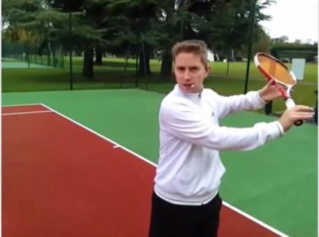 Revers tennis exercice puissance main libre