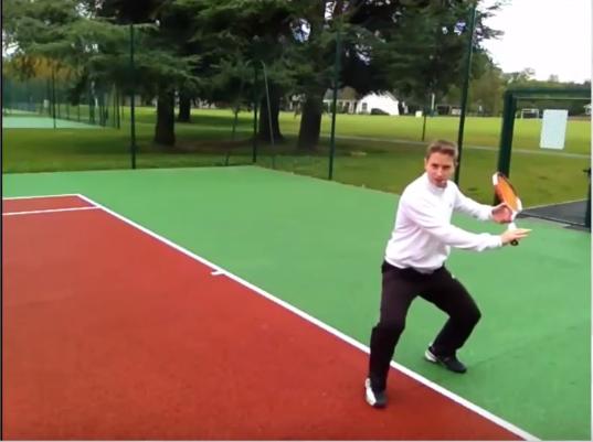 Revers tennis exercice régularité photo