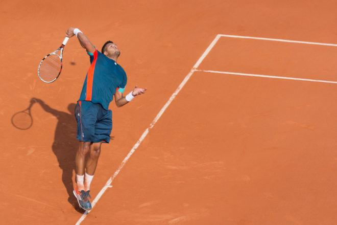 exercice service tennis