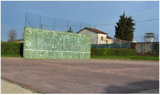 mur de tennis