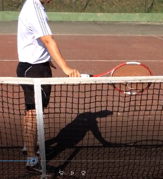 exercice revers tennis prise