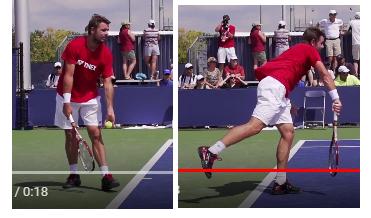 service puissant tennis transfert